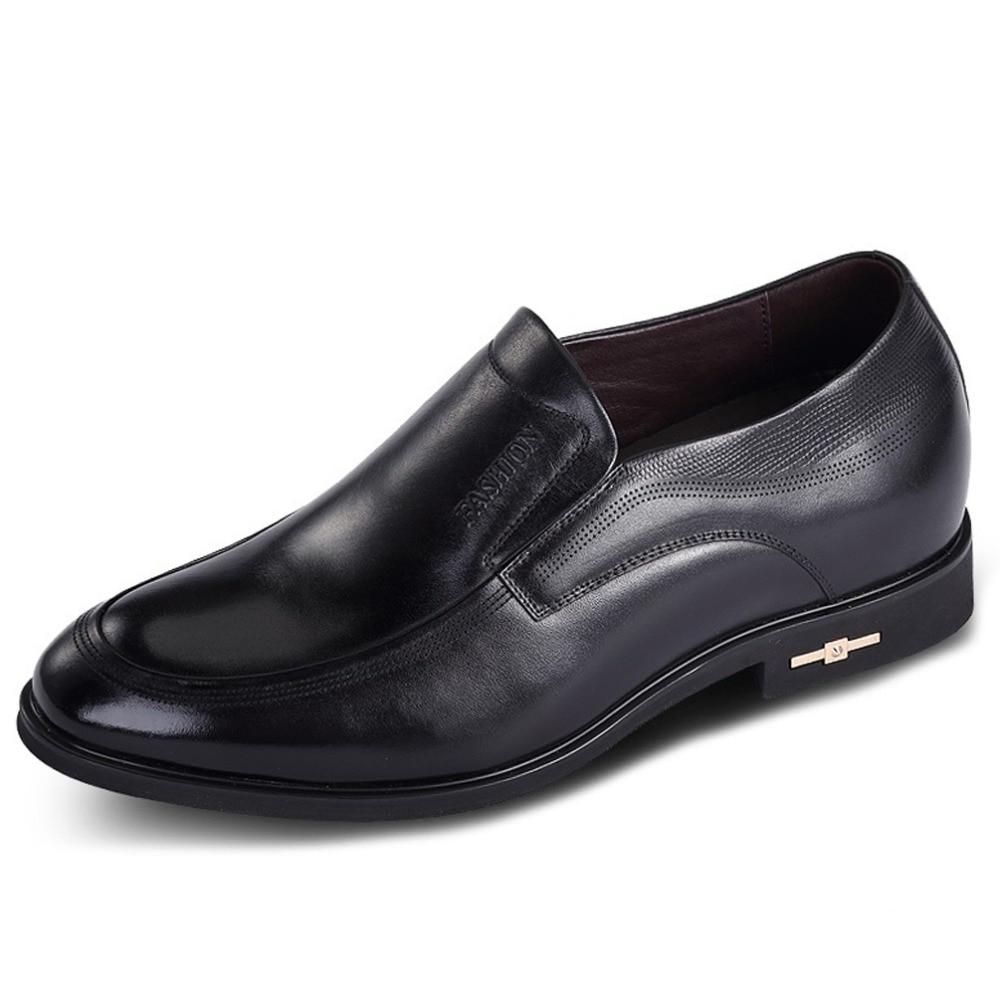 X1659 degli uomini Altezza Crescente Ascensore Scarpe di Cuoio Formale  Abito in Nascosta Aumentare Grow Uomo Più Alto 2.75