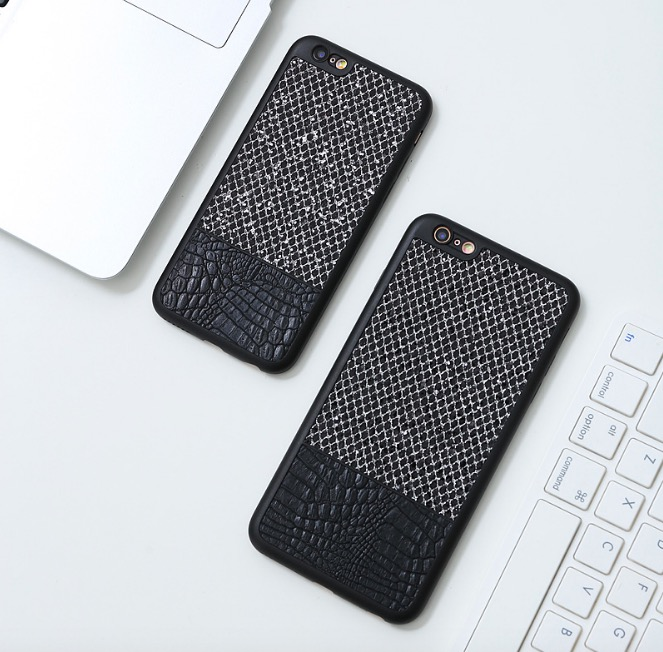 Wholesale 1000pcs Ultra Thin Luxury Hybrid Soft TPU Leather Back Case Cover for iPhone 6 6S 7 Plus S8 Plus