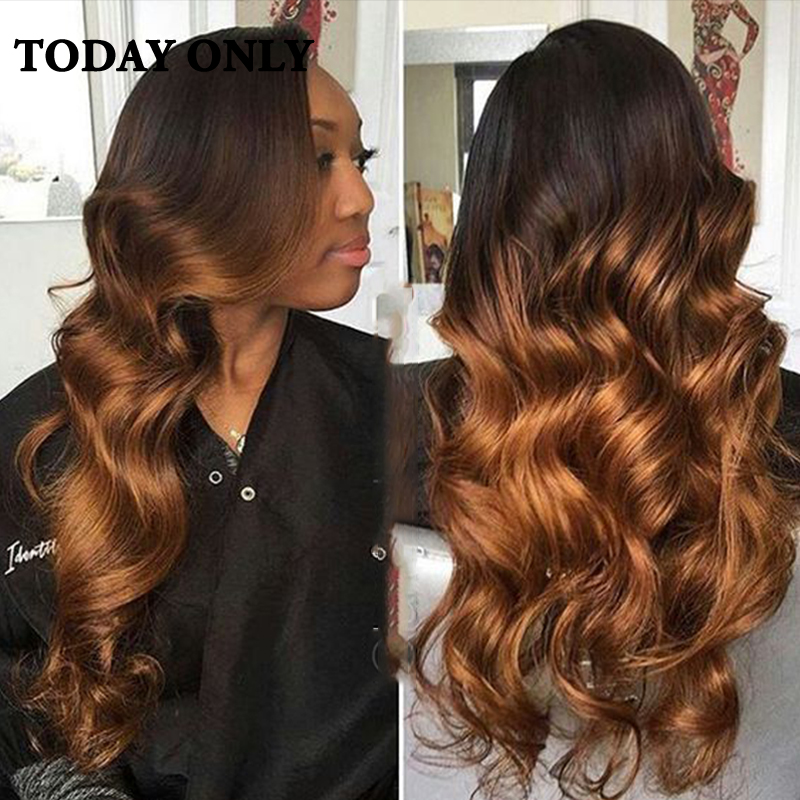 10A Grade Peruvian Virgin Hair Body Wave 4 Bundles With Closure 1b 27 Ombre Hair With Closure Peruvian Virgin Hair With Closure