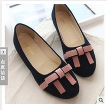 Free shipping the summer new fashion Comfortable leisure bowknot Round toe women's Ballet flats ladies shoes 2 color