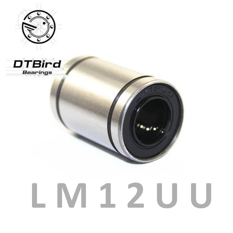 Free shipping LM12UU 12mm Linear Ball Bearing Bushing  Linear Bearings 3d printer parts LM12 desktop 3d printer special bearing 624zz 10pcs 4x13x5mm mute ball bearings 624 for kossel mini prusa i3 parts free shipping