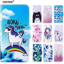 MILYSSI PU Leather Case For Sony Xperia XA XA1 L1 E5 XZ1 Compact Luxury Lovely Pattern Leather Cover Flip Wallet Case