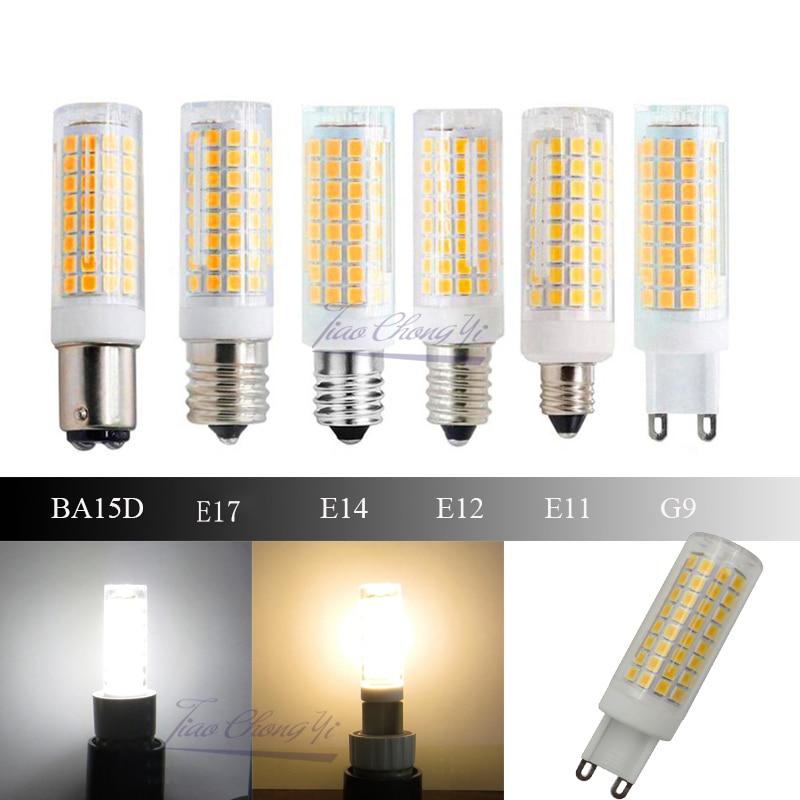 Highlight Led Ceramic bulb mini corn AC110V 120V Dimmable G9 E11 E12 E14 E17 BA15D Energy Saving 10W Replace 100W Halogen Lamp