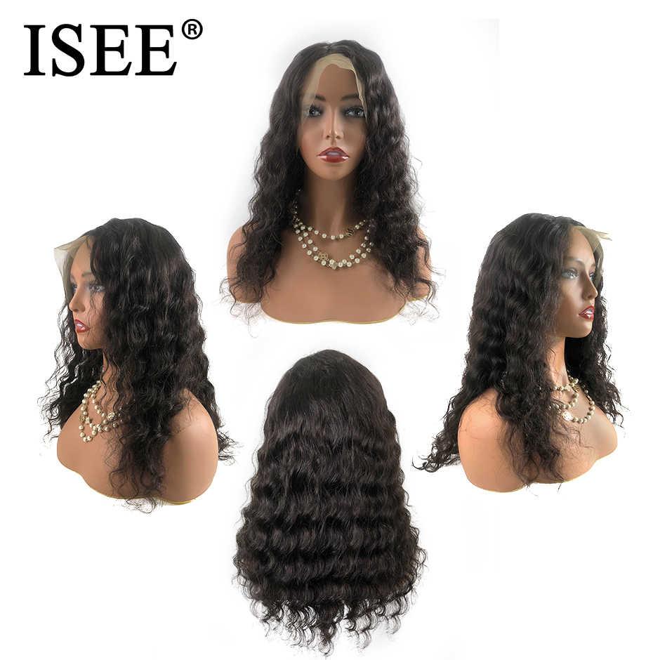 13X6 бразильские Свободные человеческие волосы с глубоким кружевом спереди парики для черных женщин Remy 150% Плотность 13X4 ISEE парики свободные парики с крутыми локонами