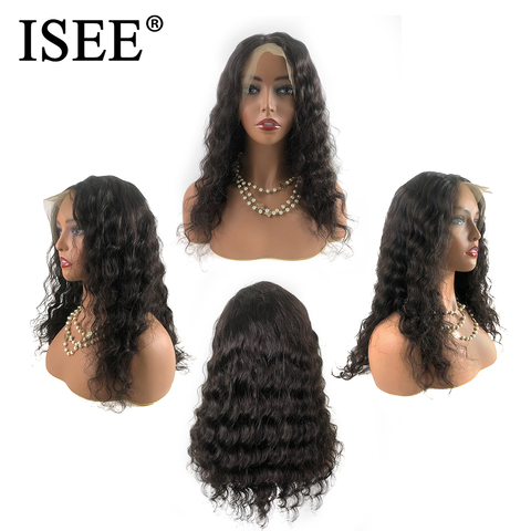 Brazilian Loose Deep Wave Wigs For Black Women Remy 150% Density 13X4 ISEE HAIR Wigs 13X6 Loose Deep Lace Front Human Hair Wigs Islamabad