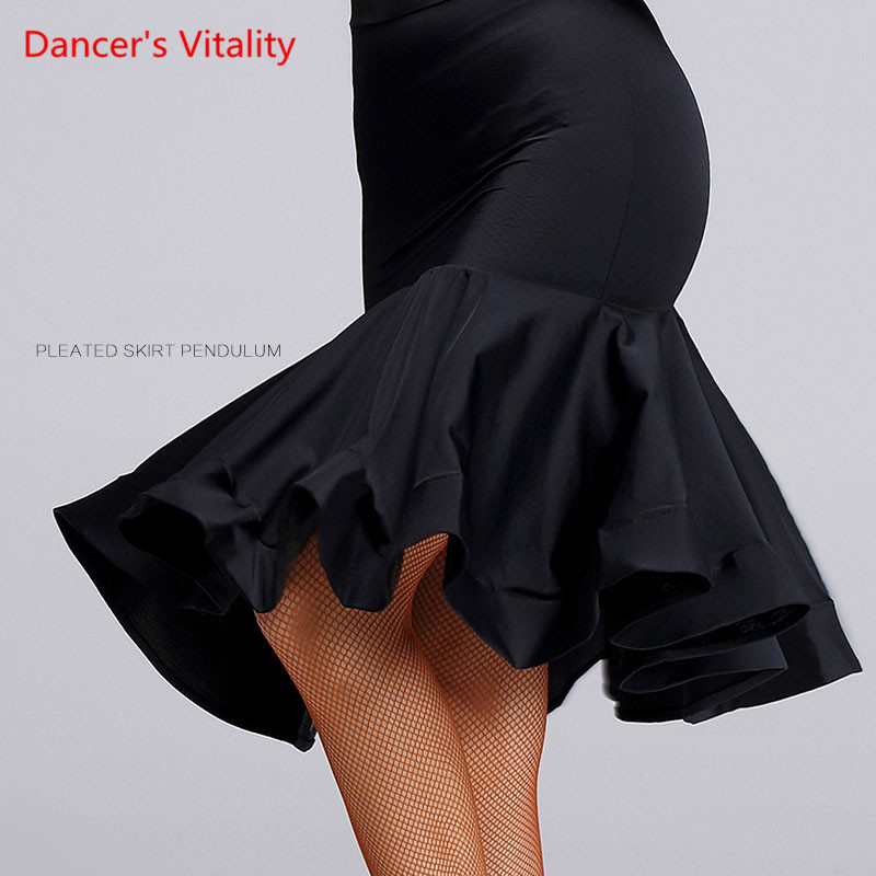 Show details for 2017 New Sex Women Lady Latin Skirt Black Strapt Salsa Tango Rumba Samba Paso Ballroom Dance Dress Square Hip Hop Clothes