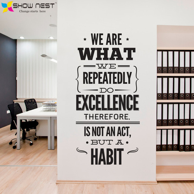 office quotes wall decal vinyl sticker office mural decor inspirational stickers motivational. Black Bedroom Furniture Sets. Home Design Ideas