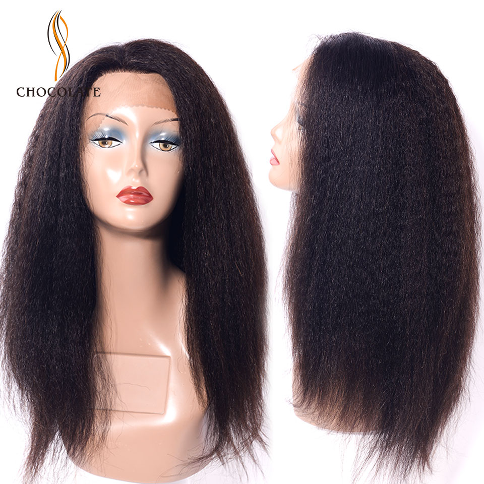 13*2 Brazilian Lace Human Hair Wigs For Black Women Remy Hair Yaki Straight Lace Front Wigs With Baby Hair 18inches
