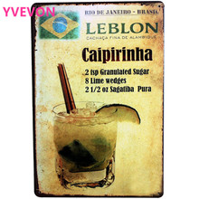 Metal Tin Sign HDLJ3-A Caipirinha Brazil Cocktail Alcohol Drink for Pub Bar Lounge with Retro Plate Poster for decor  20x30cm свитшот print bar brazil 2016