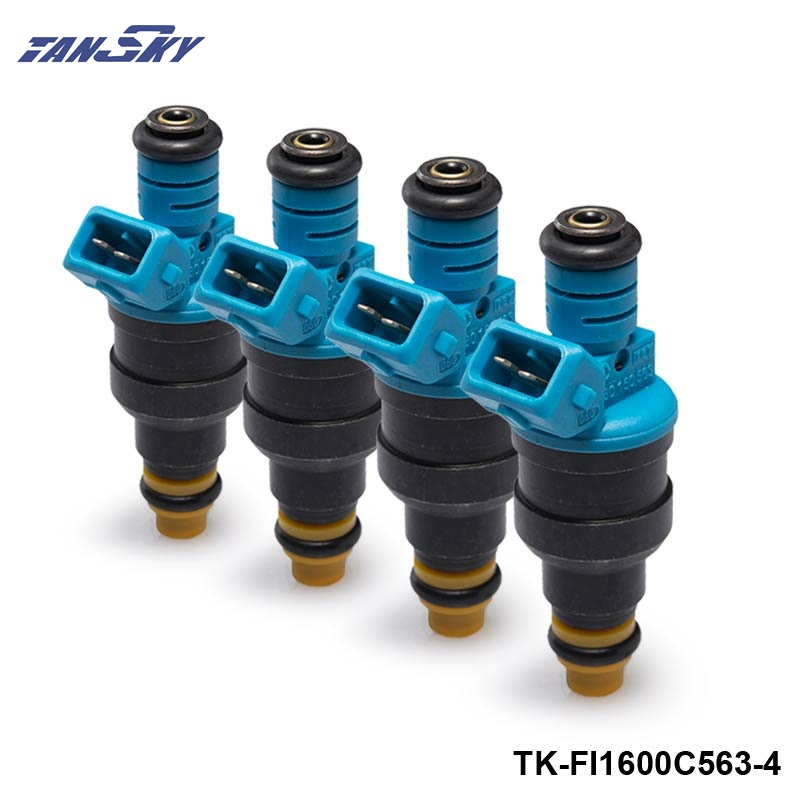 4PCS/LOT 1600 Cc/min Low Impedance Fuel Injectors 0280150563 TK-FI1600C563-4