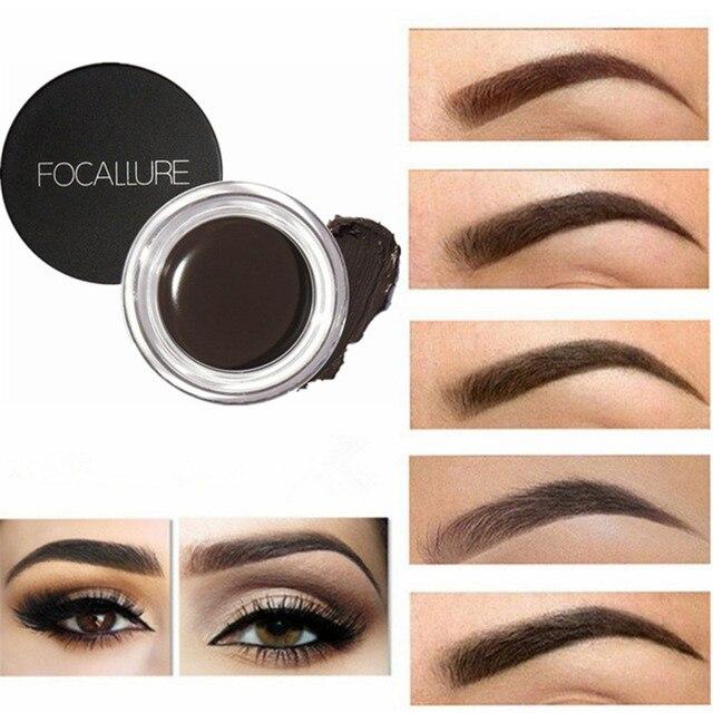 5 colores de pomada Gel impermeable, Maquiagem maquillaje accesorios ojo frente delineador de ojos de larga duración ojo Gel de cejas tinte negro