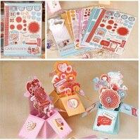Creative DIY Handmade Valentine Pop Up Box Card Making Kit Birthday Wedding Gift 3D Greeting Card