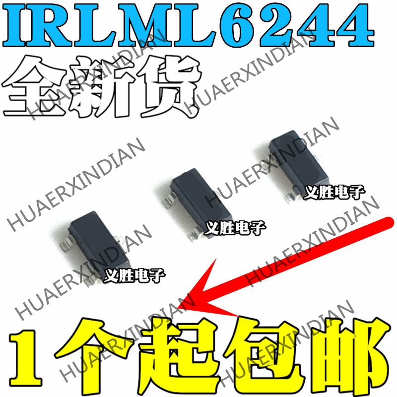 10Pcs IRLML6244TRPBF Transistor SOT-23 N-Channel 20V//6.3A SMD Power MOSFET