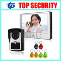 7 Inch Color Screen Video Door Phone System RFID Card Door Access Control Reader Standalone Access Control Video Intercom Bell