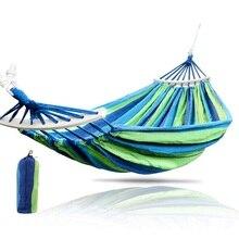 Гамак для сада на 1-2 человека, портативный гамак для улицы, для спорта, дома, путешествий, кемпинга, кресло-качалка, холст, в полоску, для кровати, гамак