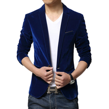 Hot Sale Fashion Mens Corduroy Blazers Jacket Solid Color Latest Coat Design Slim Fit Blazer Male