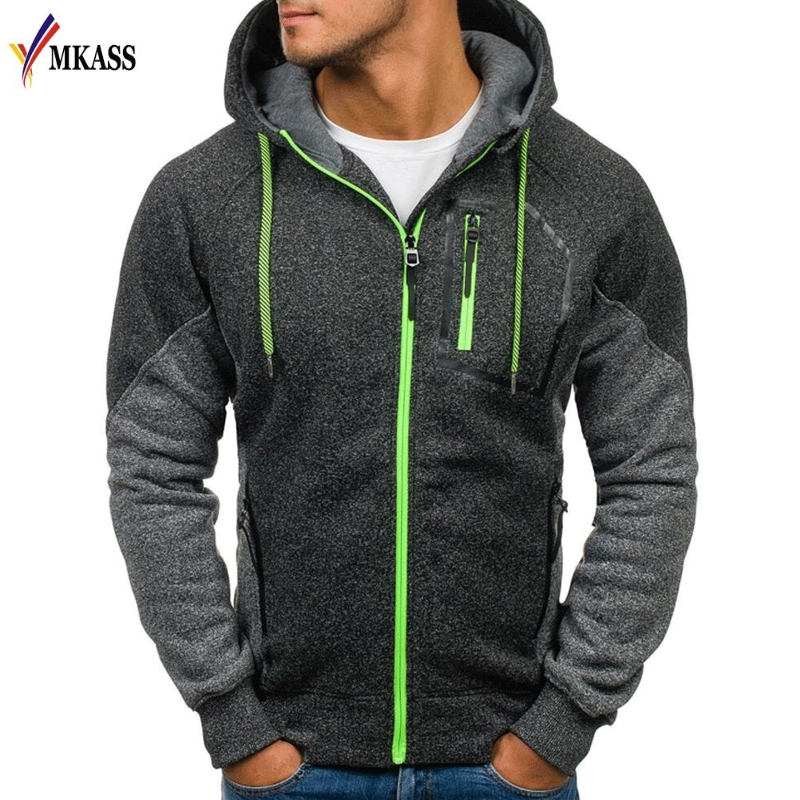 2018 New Style Hoodie Male Cardigan Long Sleeve Hoodies Men Zipper Sweatshirt Hoodies Mens Hooded Size M-3XL