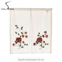 SewCrane Big Flower Abstract Leaves Home Restaurant Door Curtain Noren Doorway Drapes Room Divider
