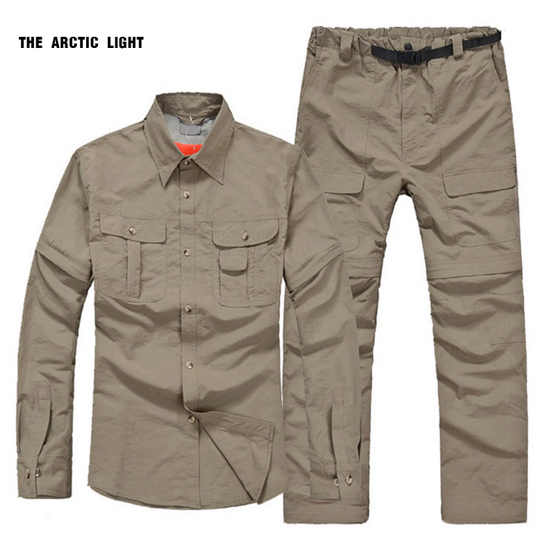 new Spring&Autumn fast-dry male quick-dry shirt and pants outdoor suit breathable&Anti UV shirt pant men  summer women spring trecking quick dry hiking shirt woman fishing pant sportwear camping trousers suit plus size shirt pant s21