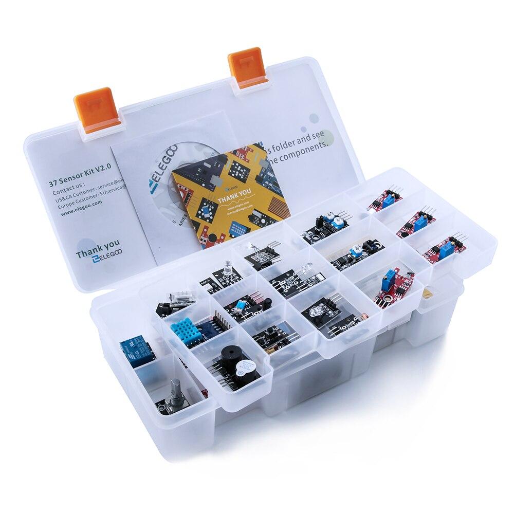 ELEGOO Arduino Due Capteur Arduino Kit Modules Mis À Jour 37 dans 1 Kit avec Tutoriel pour Arduino UNO R3 MEGA 2560 nano