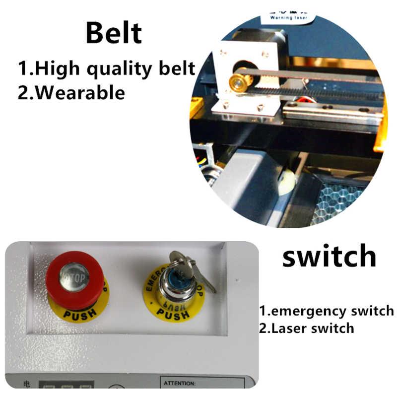 Miễn phí Vận Chuyển 3020 mini laser máy cắt/50 wát laser ống un & xuống nền tảng