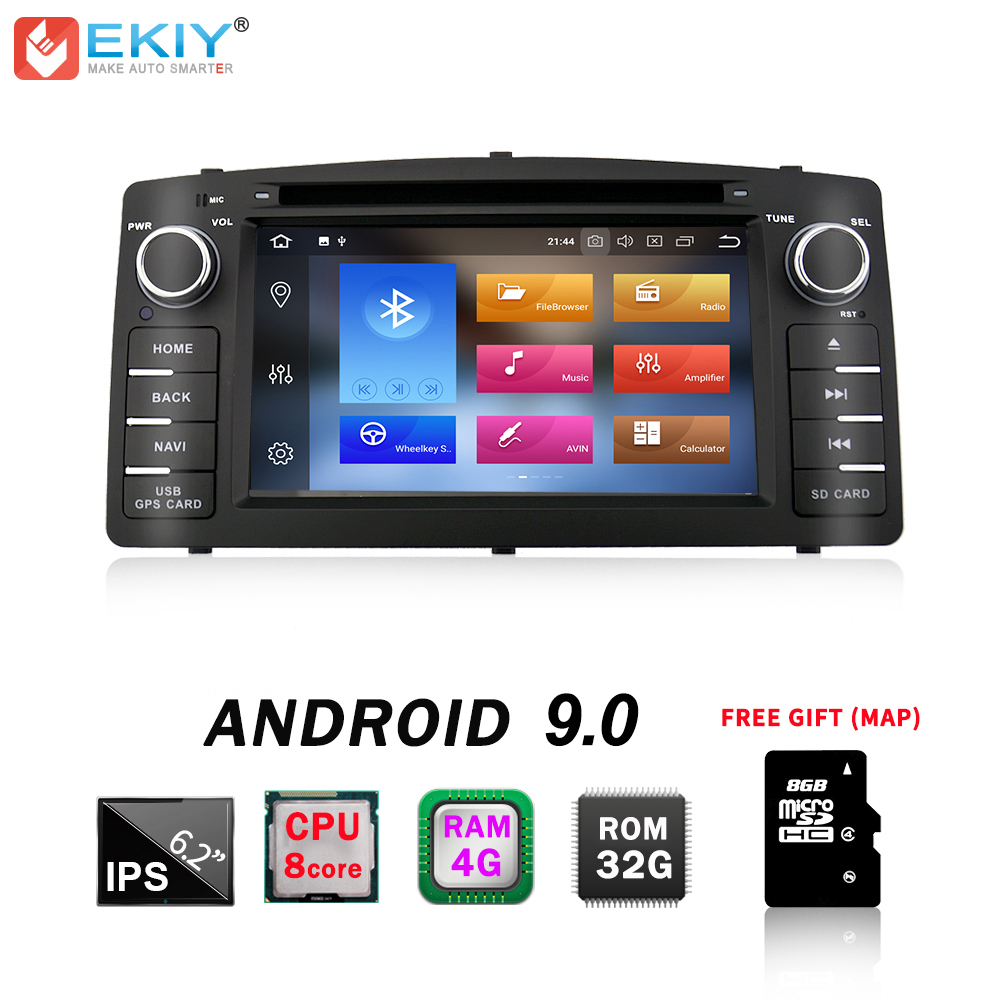 EKIY IPS DSP 2 Din Android 9.0 4G 32G Car DVD Multimedia Player For Toyota Corolla E120 BYD F3 GPS Navi Stereo Audio Auto Radio