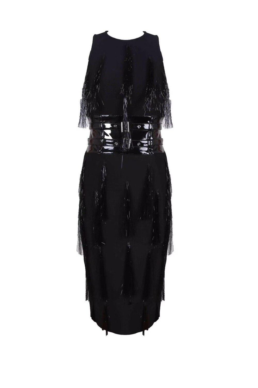 De Qualité Top Celebrity Bandage Gland Sexy 2018 Mode Robes Dames Robe Noir Designer PdwdUq