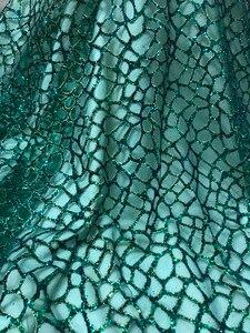 Image 1 - 패션 쇼 JIANXI.C 51532 무대 쇼/이브닝 드레스/파티를위한 반짝이 장식 조각 자수 얇은 명주 그물 레이스를 붙였다