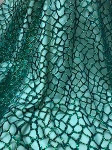 Image 1 - Moda gösterisi JIANXI.C 51532 yapıştırılmış parlak pullar nakış tül mesh dantel sahne gösterisi/gece elbisesi/parti