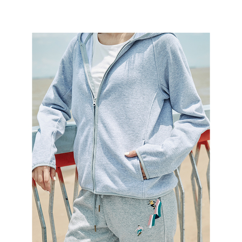 INMAN 2019 Autumn New Arrival Cotton Hoodie Casual All Matched Sport Fashion Women Jacket Islamabad