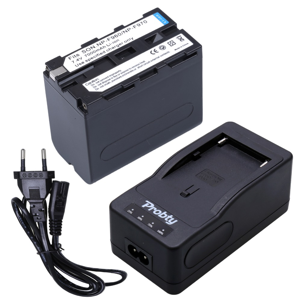 1Pcs NP-F960 Battery + Quick Rapid Charger NP-F960 F950 F970 Rechargeable Camera Battery For <font><b>Sony</b></font> DCR-<font><b>VX2100</b></font> FDR-AX1 FDR-AX1E image