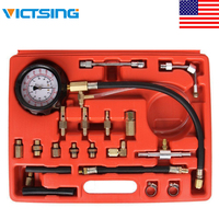 VicTsing Manometer Fuel Injection Pressure Tester Kit with Case Gauge Kit for Car Truck SUV 0 140 PSI Fuel Injection Pump Tester