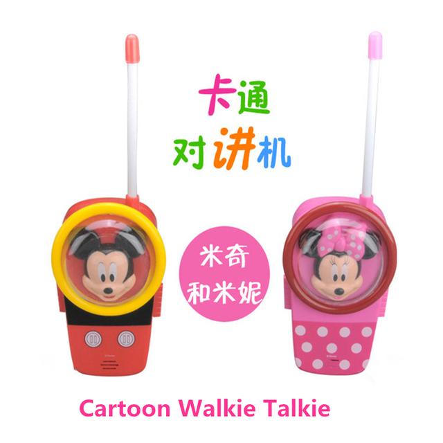 2016 venda Quente novo Brinquedo Comunicação Walkie Talkie para Crianças Caçoa o Presente Dos Desenhos Animados Handheld Durável Área Aberta Two-Way rádio Divertido