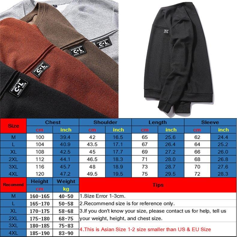 2019 New Fashion Hoodies Shirts Men Sweatshirts Male Solid Hoody Korean Styele O-Neck Autumn Spring Winter Brand Streetwears 12