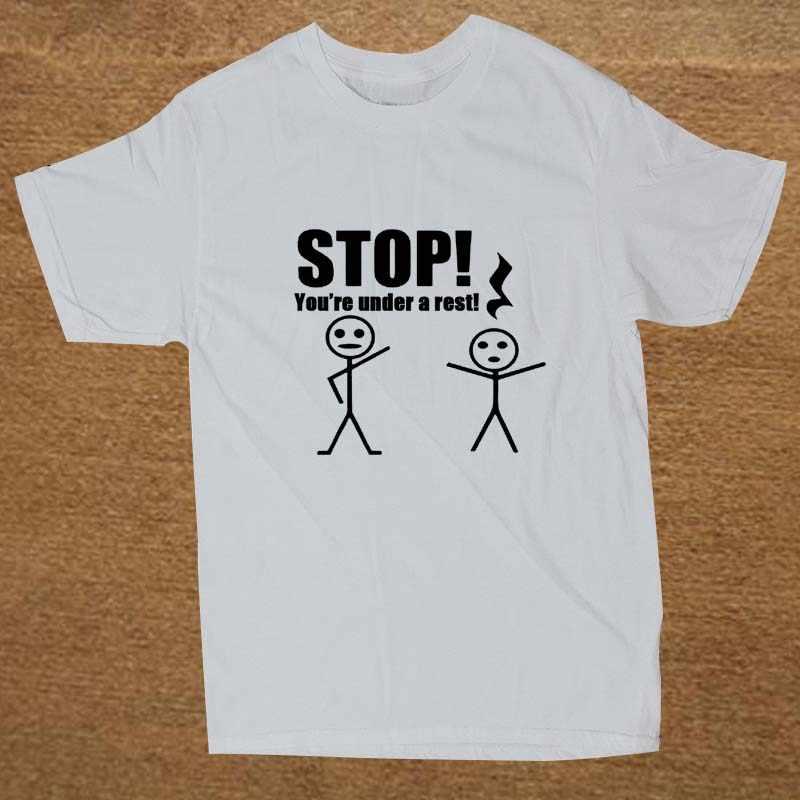 f55de39a59 ... Stop You're Under A Rest Cute Music Piano Teacher Funny T Shirt Tshirt  Men ...