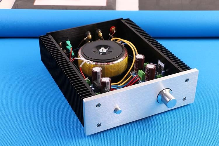 DIYERZONE New Finished TDA7293 Stereo Amplifier 100W Class AB HIFI Big Power AMP finished a50 class a 100w 100w amplifier mjl4281 mjl4302 hifi stereo power amplifier 2018 new listing