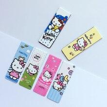 6 шт./упак. Симпатичные Kawaii Hello Kitty Магнитные Закладки Книги Маркер Страницы Студент Канцелярские Школьные Канцелярские Дети Подарок