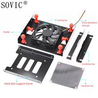 New 2 5 Floppy Disc HDD Tray Plastic Mounting Kit Bracket SSD Stents Hard Disk Drive
