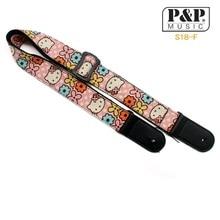 Розовый ремешок для укулеле с ПУ кожаными концами Регулируемый хлопковый ремень для детей маленькая народная гитара Ukelele