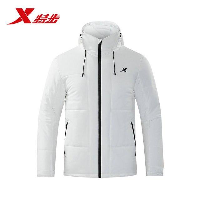 882429189113 Xtep мужская хлопковая одежда 2018 зима новая теплая и удобная с капюшоном свободная Мужская куртка рубашка хлопковая одежда