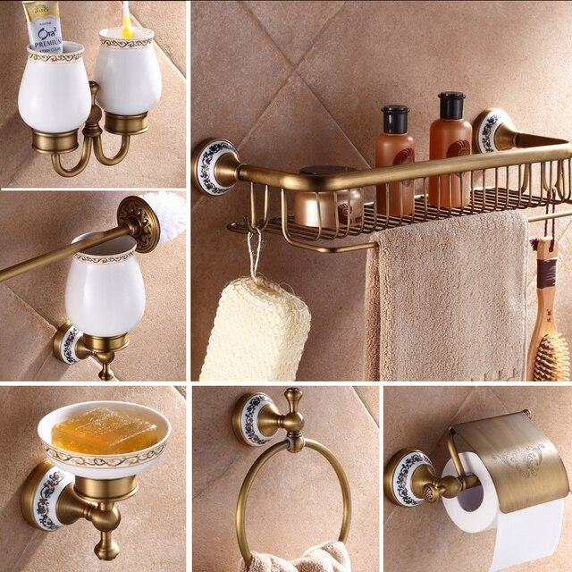 Antique laiton luxe salle de bains accessoire porte papier toilette ...