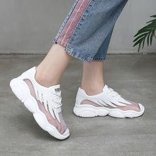 womens sneakers shoes 2019 fashion  platform mesh lace breathable comfortable sports casual