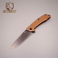Multifunctional Tool Sharpener Tactical Knife Stonewash Survival Hunting Titanium Folding Blade Pocket D2 Steel Knife Cutting