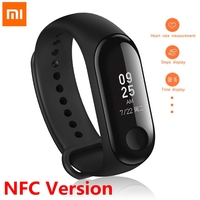 Original Xiaomi Mi Band 3 NFC Version Fitness Tracker Smart Bracelet 0.78 OLED Touch Screen Weather Forecate Heart Rate Monitor