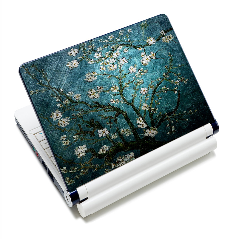 Van Goghs Cherry Tree Prints 1213141515.415.6 Laptop Skin Decal Sticker Cover PVC Prints Notebook PC Reusable Protector