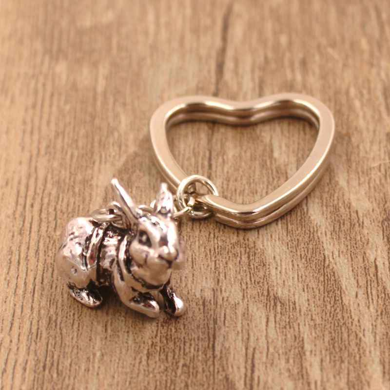 2019 New French Bulldog Animal Gold Silver Plated Metal Pendant Keychain For Bag Car Women Men Girls Boys Love Jewelry