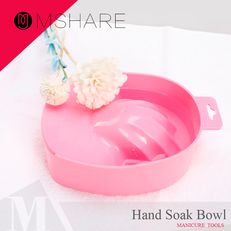 MSHARE 1PC Nail Art Hand Wash Remover Soak Bowl DIY Salon Nail Spa