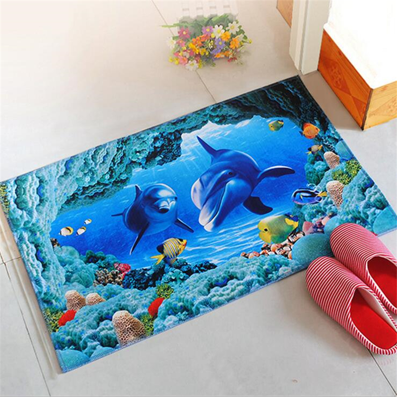 3D Cartoon Animal Rug for Living room Bedroom Non-slip Carpet Modern Home decor Carpets Kids Room kitchen bathroom Mat Doormats