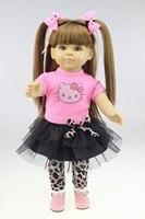 2015 NOWY projekt piękne 18 cali American girl długie wigDollie & me fashion doll Nasz generacji