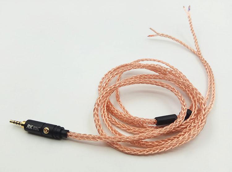 diy earphone wire 2 5mm 4pole balance plug 3 5mm 3pole plug 7N single crystal copper